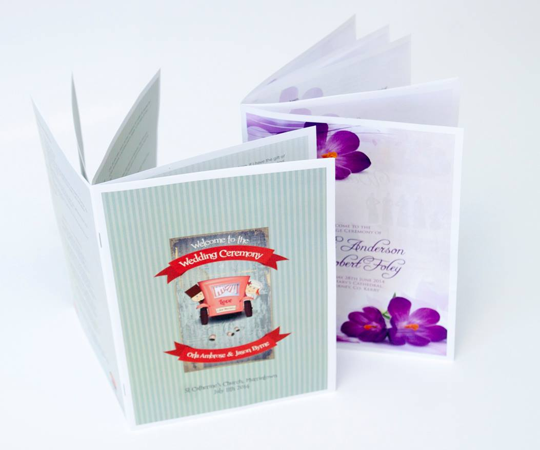 wedding mass booklets, ceremony sheets