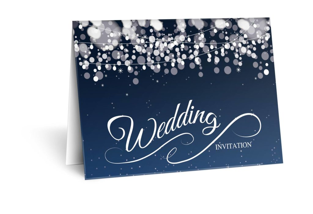 midnight wedding invitations