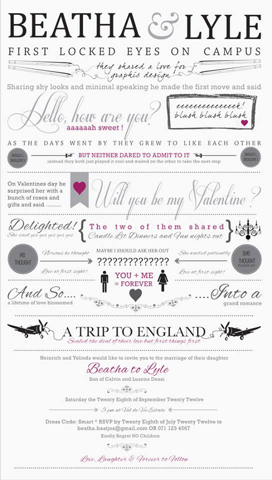 Love Story - wedding invitation ideas