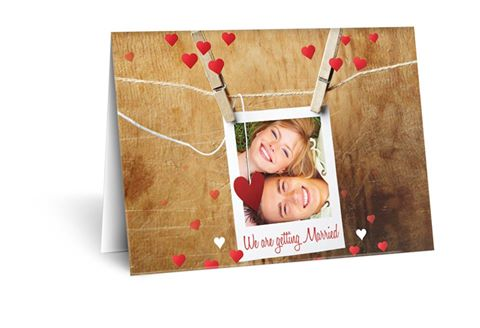 Couples Photo on Invitation Personalised Invite