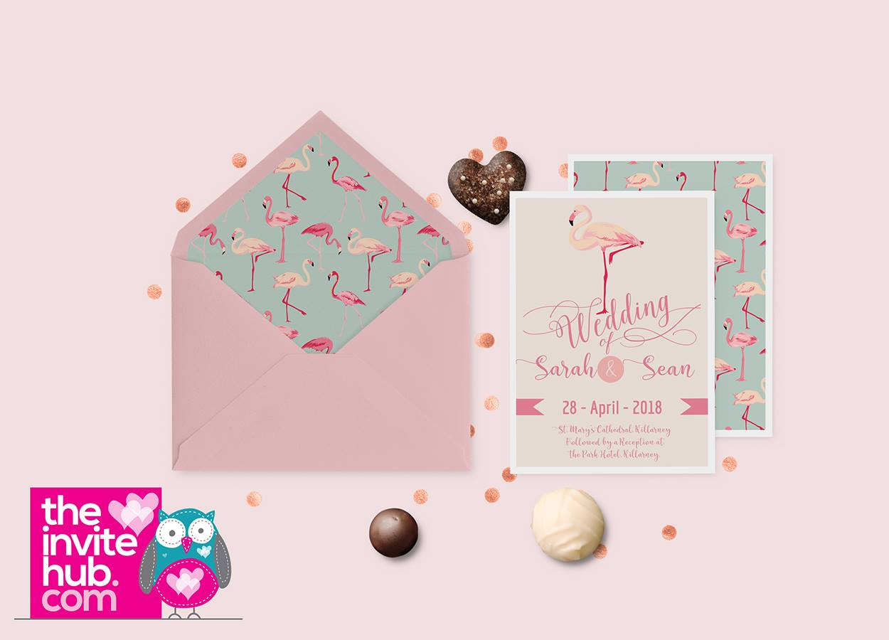 Flamingo Invitations -wedding invitations