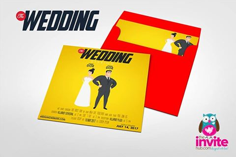 Super Hero Style Wedding Invitation