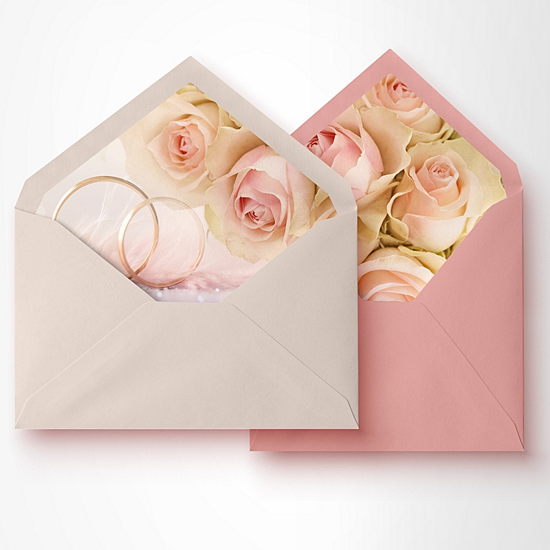 envelope liners RSVP Reply Cards