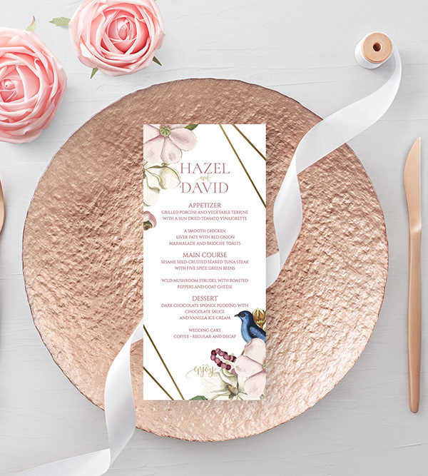 Free Wedding Menu