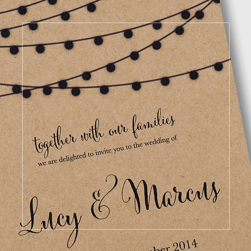 Evening Wedding Invitations
