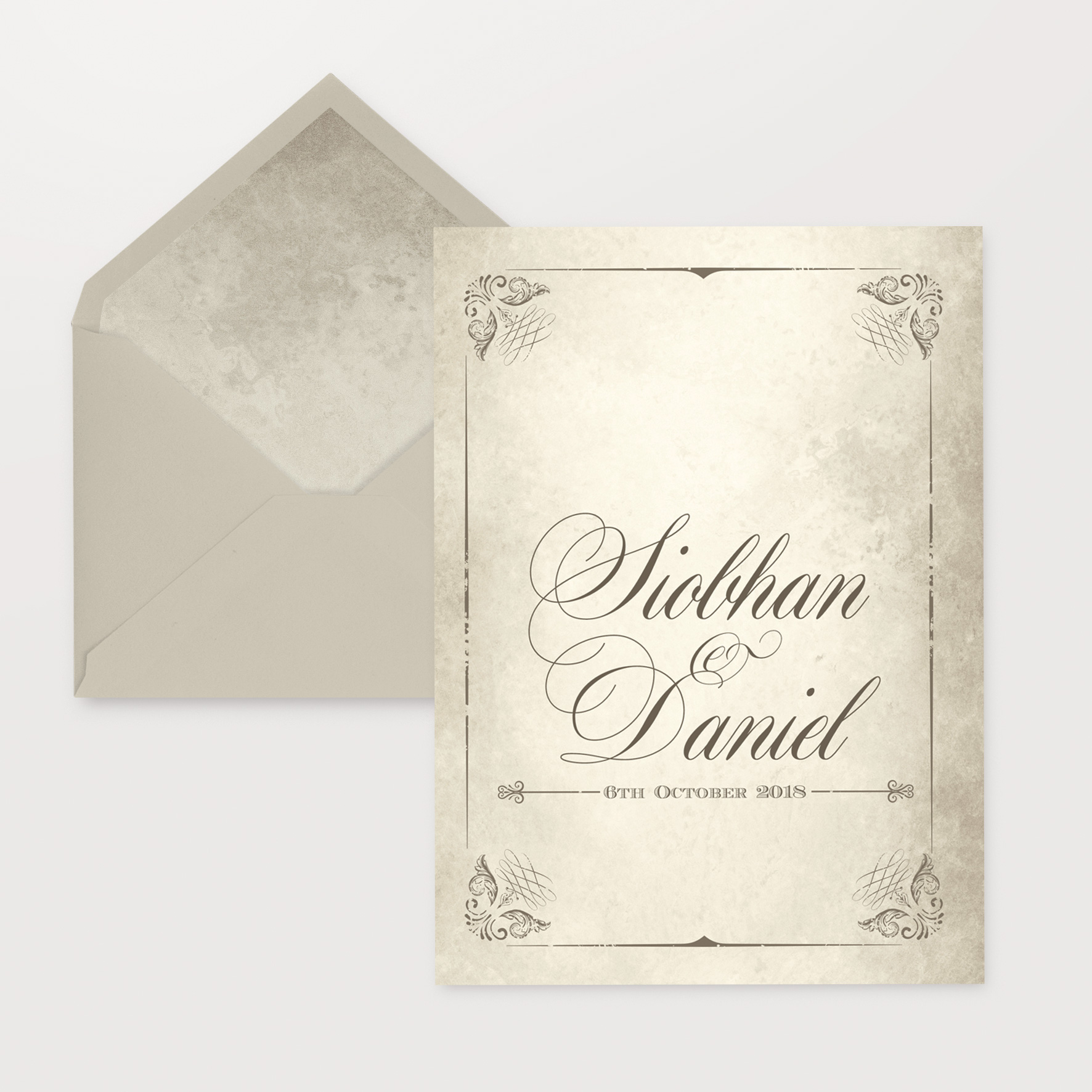 marble classy wedding invitations