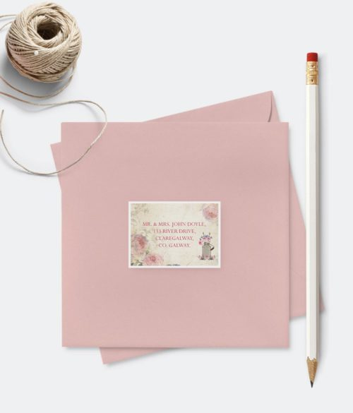 address labels wedding colourfull envelopes
