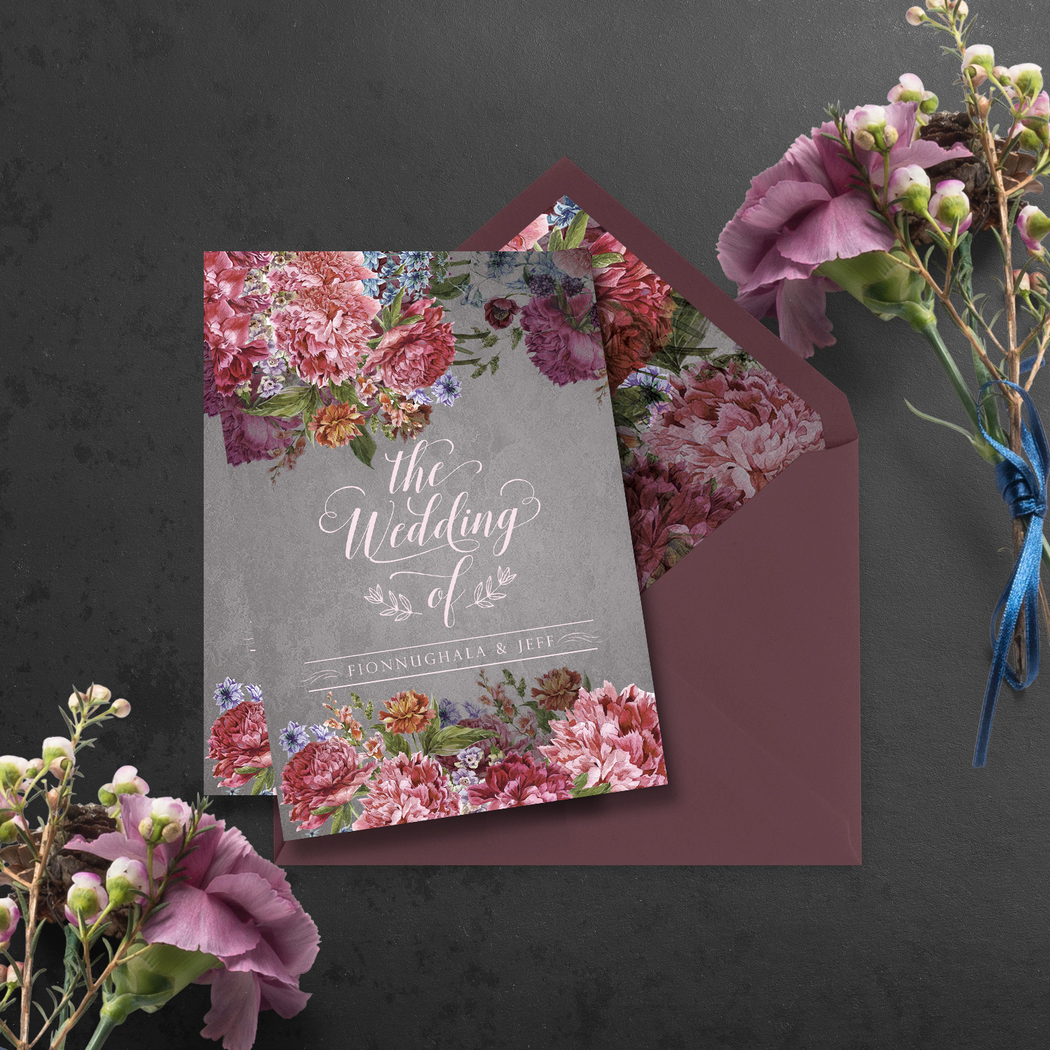 burgundy floral wedding invite wedding invitations mass booklets killarney