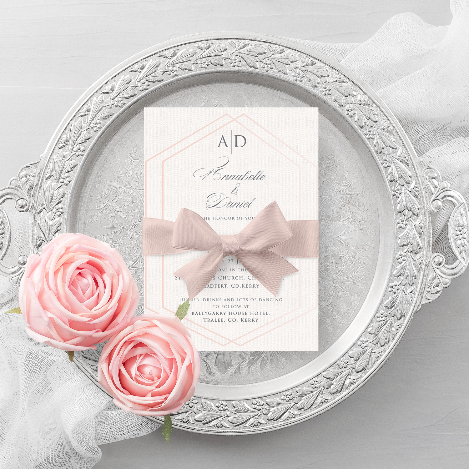 elegant wedding invite simple wedding invitations killarney