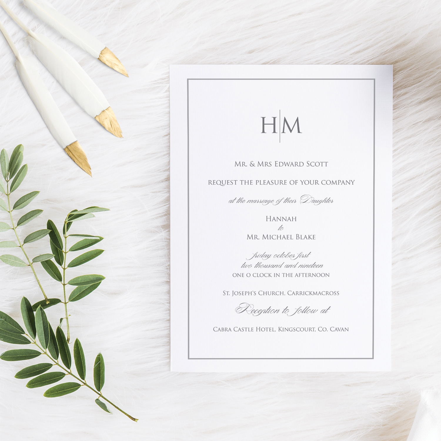 simple classy elegant white invite invitations stationery