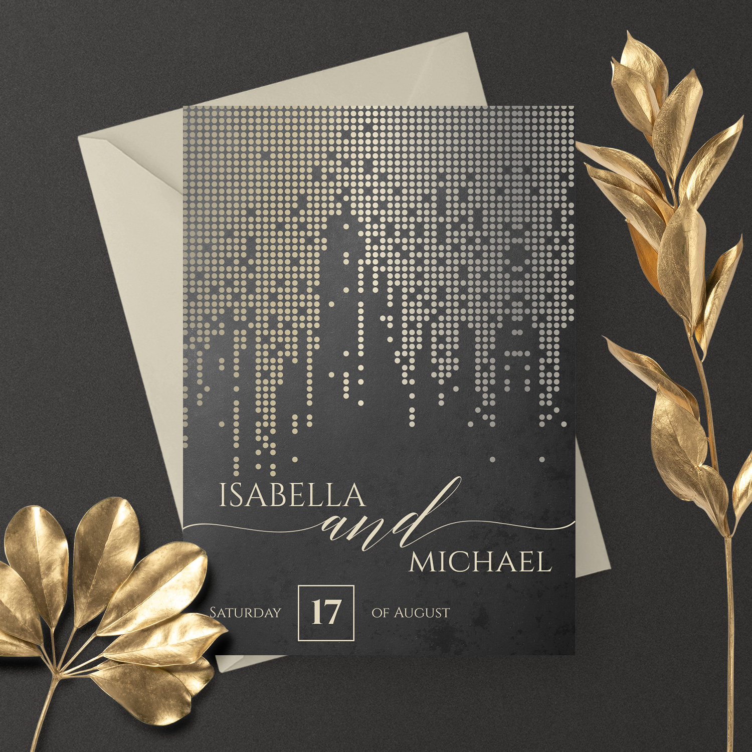 gold sparkle wedding invite gatsby wedding invitations