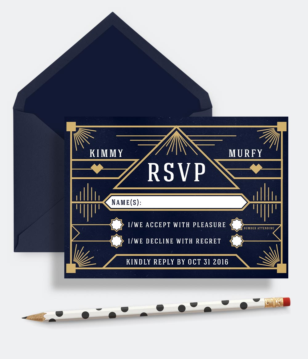 Wedding Rsvp Card Rsvp Reply Cards Personalised Wedding Stationery