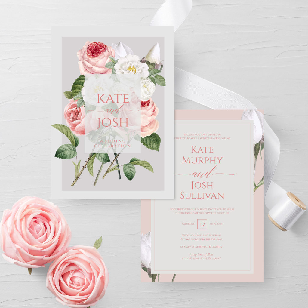 0 Floral Pastel Wedding Invitations