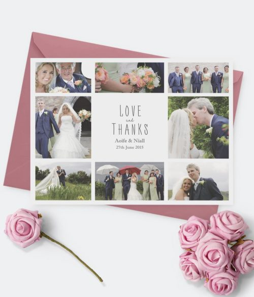 wedding thank you cards wedding picture bespoke thank you cards