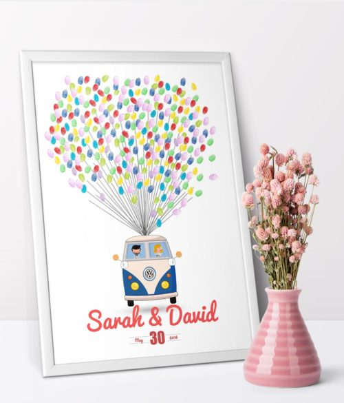 fingerprint tree signs Wedding thumbprint poster