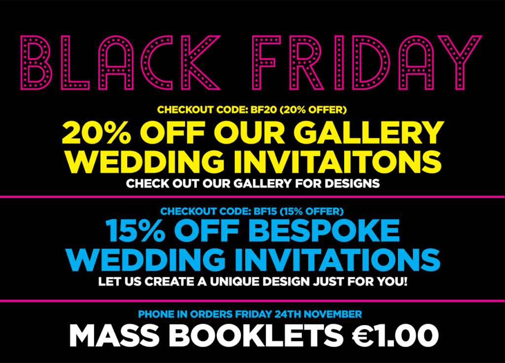 wedding stationery black friday