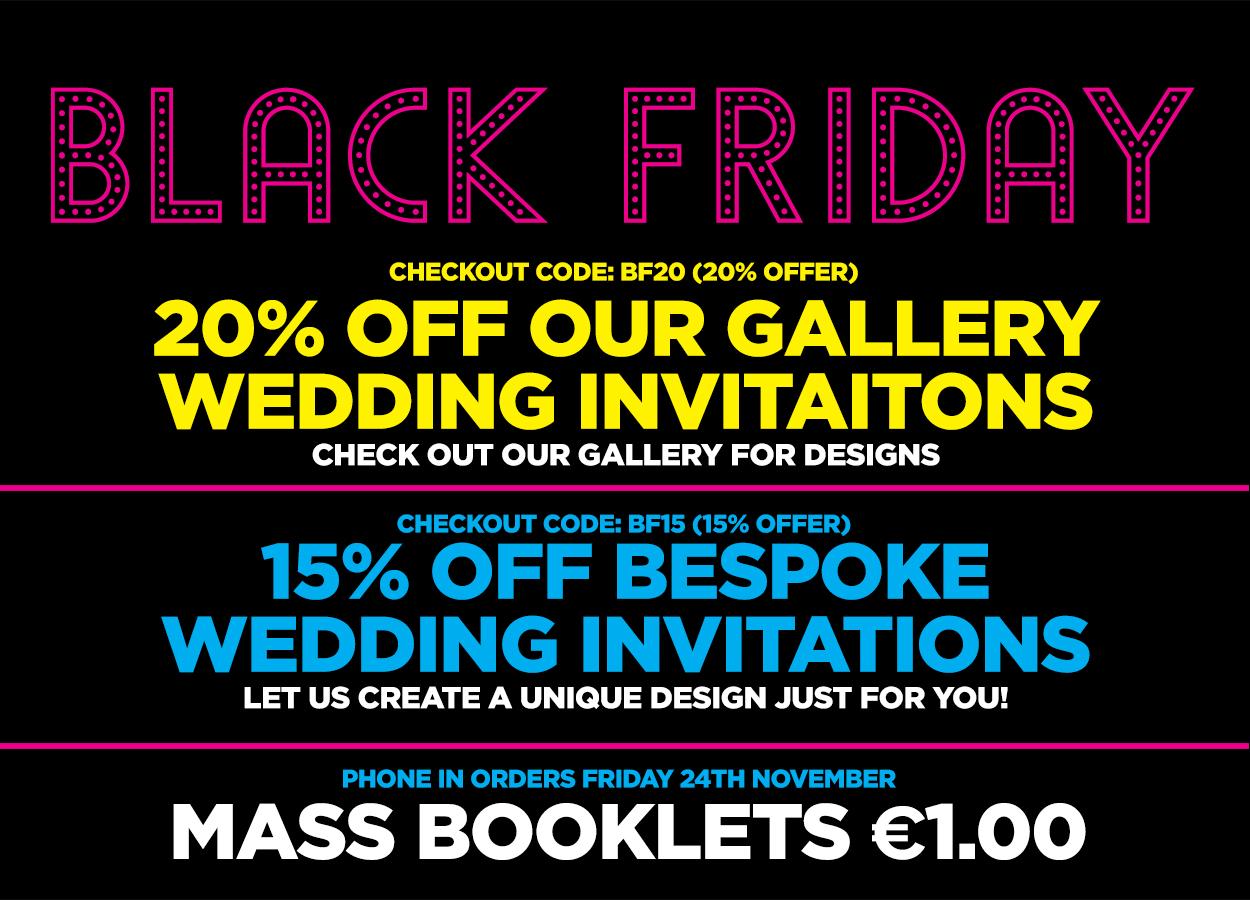 wedding stationery black friday