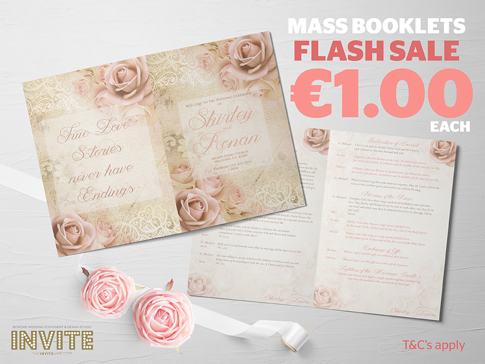 Mass Booklet Wedding Stationery