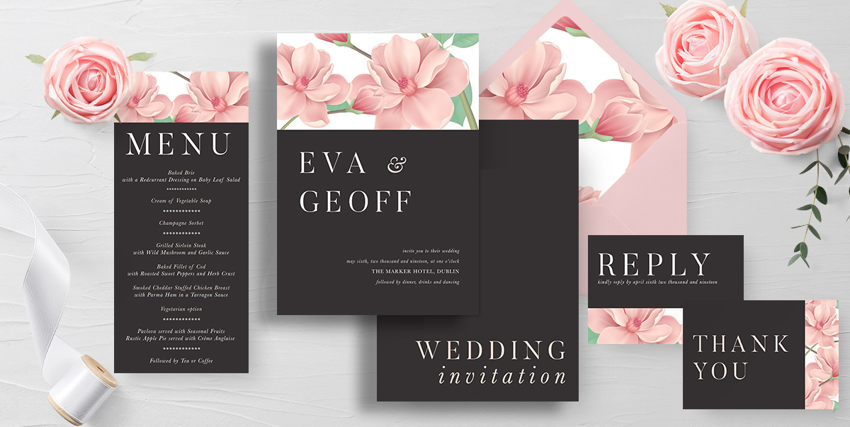 Wedding Stationery Invitations Sample Pack