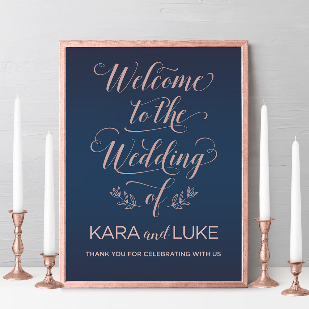 geometric wedding welcome sign