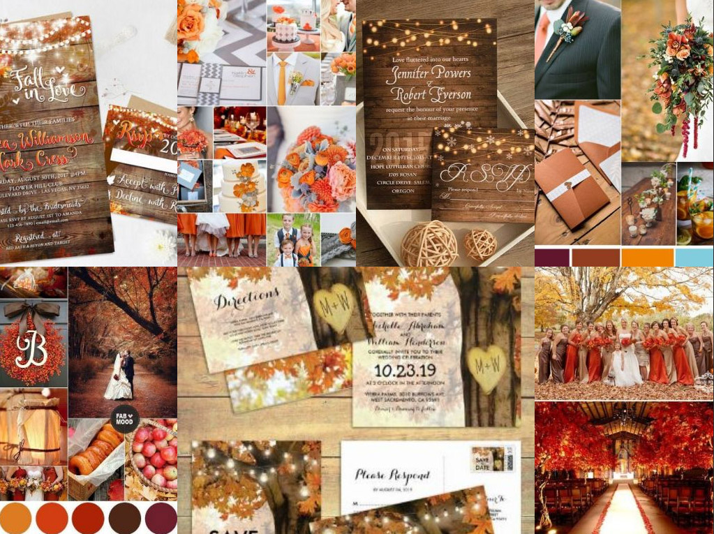Dusty Orange Wedding Invitations Wedding Invitations Colour Palette 2019