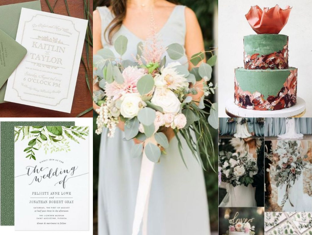 Silver Sage Wedding Invitation Trends 2019 Dublin Wedding Invitations Colour Palette 2019