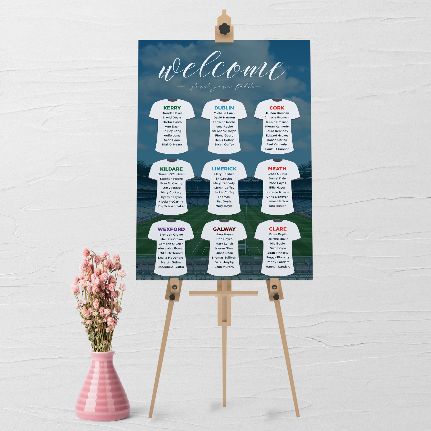 GAA ticket Wedding Table Plan