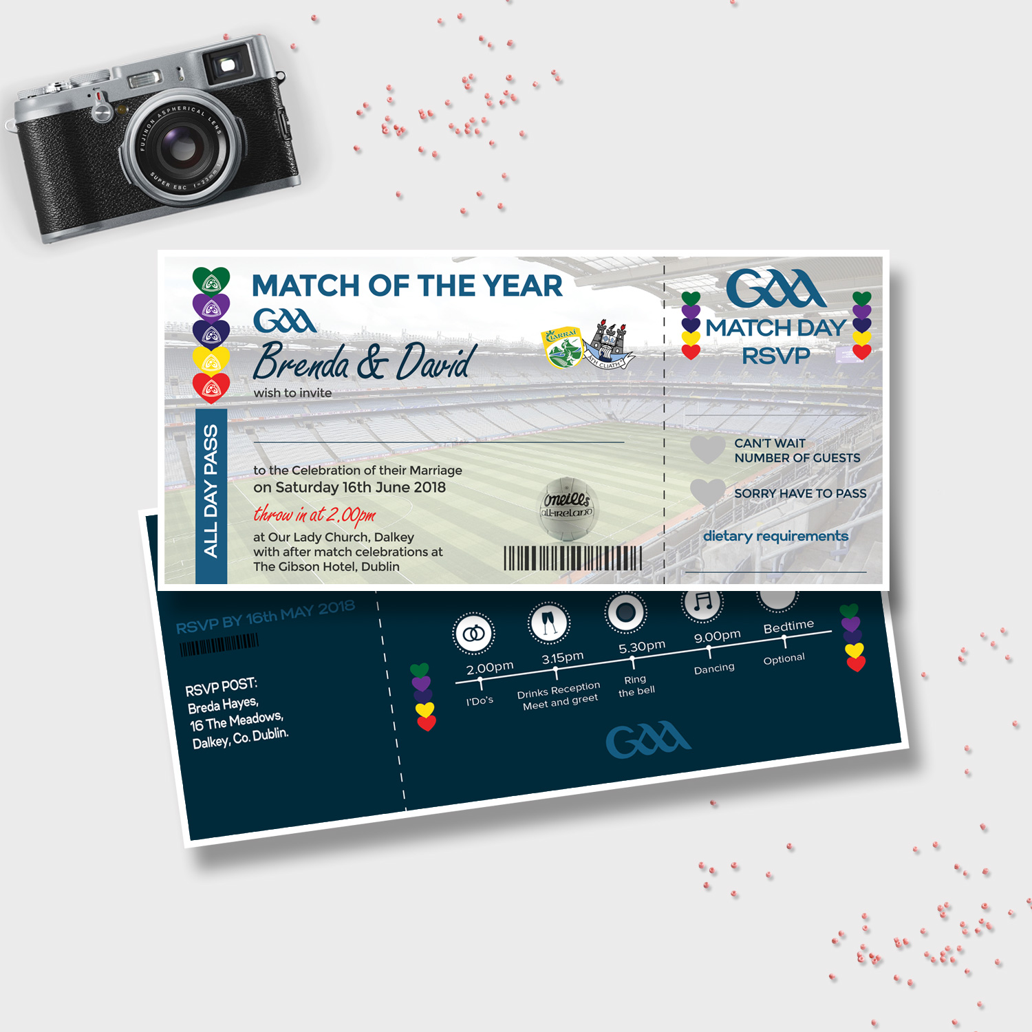 GAA Ticket Wedding Ticket