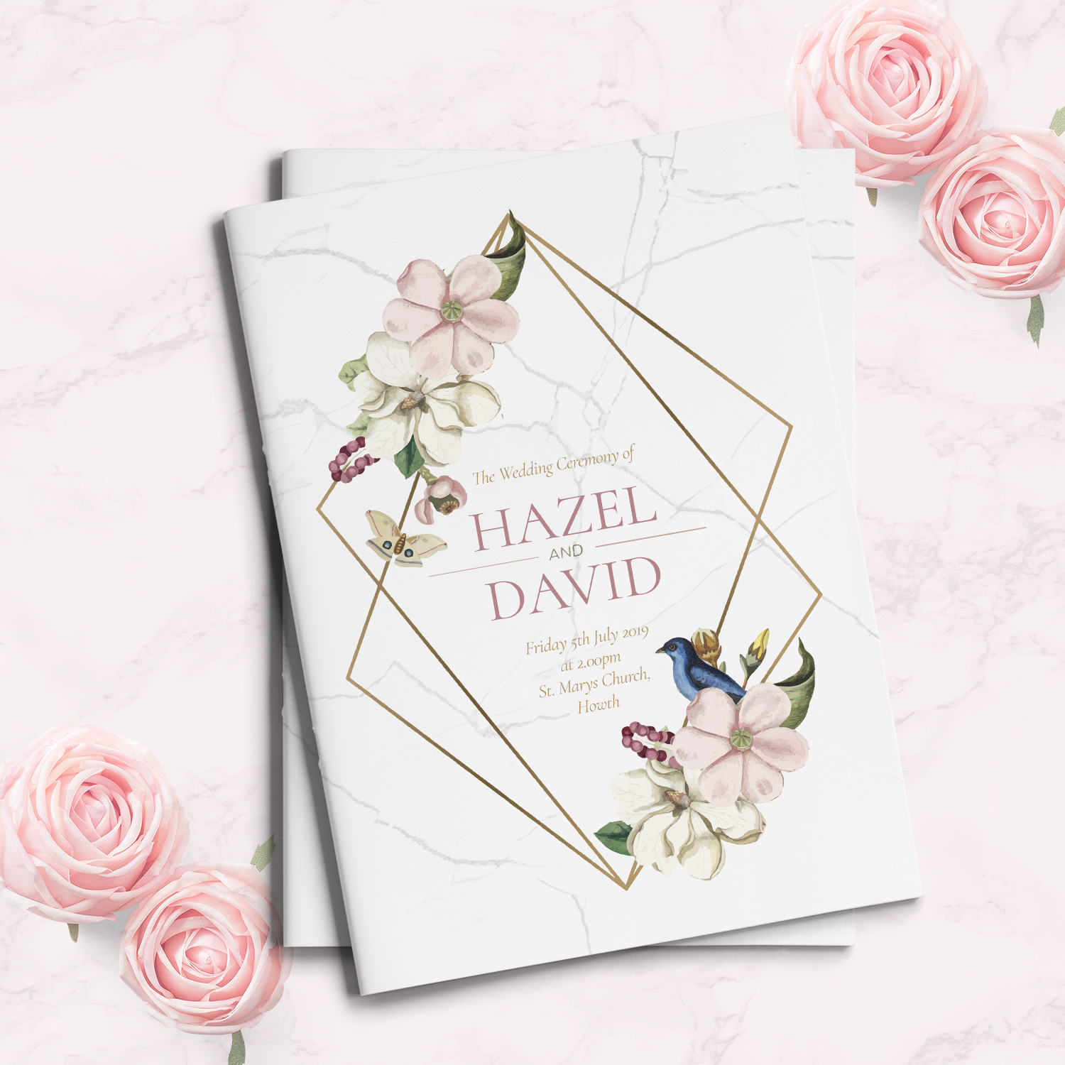 marble floral mass book